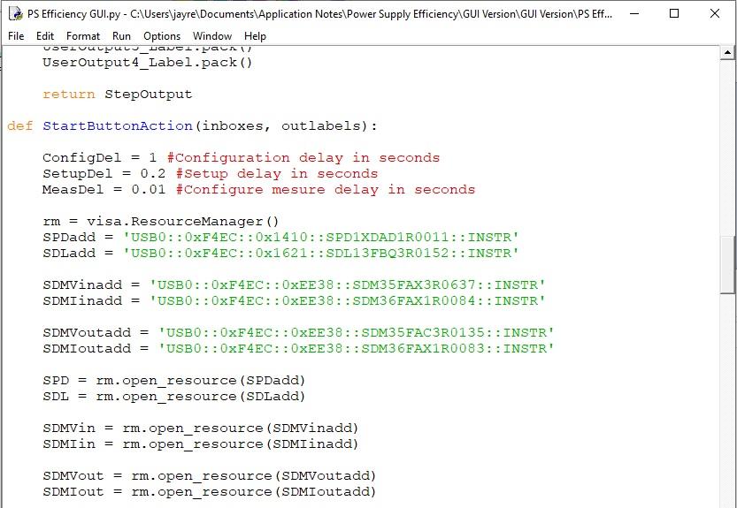 siglent multiple dmm power supply efficiency programming example code sample