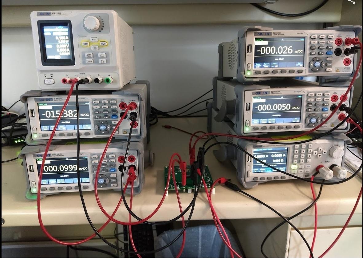 siglent multiple dmm power supply effiiciency setup photo
